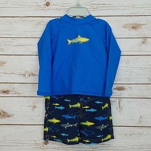 Sun Smarties Swim Shirt/Shorts Size 18 Months